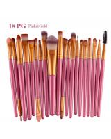 BL5018 Colourful Make Up Brush Pink Gold