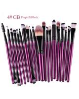 BL5018 Colourful Make Up Brush Purple Black