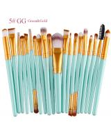BL5018 Colourful Make Up Brush Green Gold