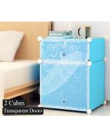 BL5022 DIY 2 Cube Cabinet  Blue