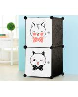 BL5026 Adorable Cat Cabinet White