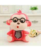 HM 847 Monkey Teddy Bear Red
