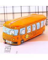 ST-502 Cute Bus Canvas Pencil Case Orange
