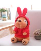 HM 850 Cute Dog Teddy Bear Red