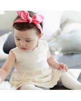 BS904 Cute Baby Hairband Pink Dot