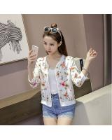 GW2237 Lovely Floral Cardigan White