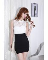 WD21592 Bodycon One Piece Dress White