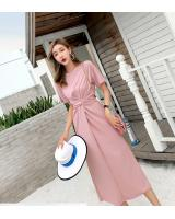 WD7642 Stylish Maxi Dress Pink