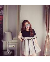 WD7644 Korea Summer Doll Dress Grey