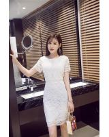 WD7647 Elegant Lace Dress White