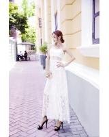 GW2253 Pretty Maxi Lace Dress White