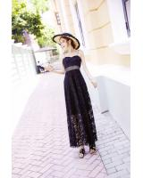 GW2253 Pretty Maxi Lace Dress Black