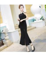 GW2254 Stylish Maxi Dress Black