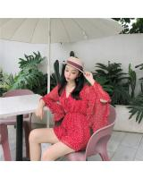 VW12347 Charming Floral Jumpsuit Red
