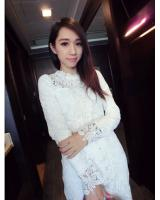 WD21600 Elegant Lace Dress White