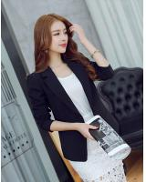 WJ7649 Charming OL Coat Black