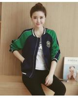 WJ21622 Stylish Front Zip Jacket Green