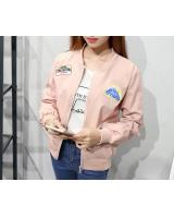 SJ21625 Trendy Front Zip Jacket Pink
