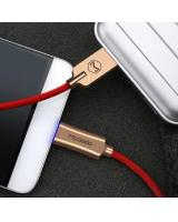 Micro USB Smart LED Auto-Disconnect Cable (Red)
