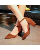 HT122 Pointed High Heel Brown