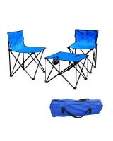 MK046 Camping Chair & Table Set Blue
