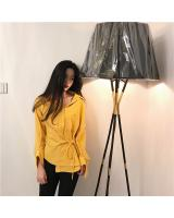VW12358 Fashion Long Top Yellow