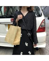 VW12360 Lovely Polka Dot Top Black