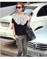 WT21707 Korea Stylish Top Black