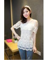 WT21721 Lovely Lace Top White