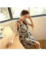WD21725 Sweet Floral Dress Apricot