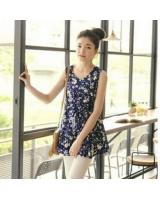 WD21725 Sweet Floral Dress Blue
