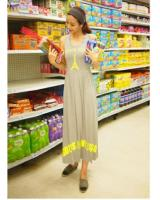 WD21731 Korea Maxi Dress Grey