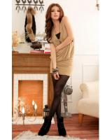 WD21734 Stylish Dress Almond