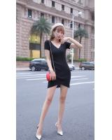 GW2294 Casual Knit Dress Black