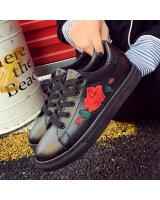 YK012 FLOWER SNEAKERS (FULL BLACK)
