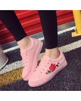 YK012 FLOWER SNEAKERS (FULL PINK)