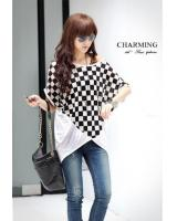WT21740 Korea Stylish Top White