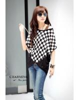 WT21740 Korea Stylish Top Black