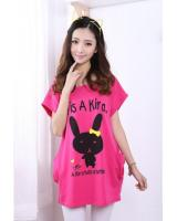 WT21741 Cute Bunny Top Pink