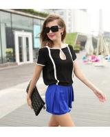 WT21744 Europe Fashion Top Black