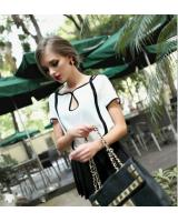 WT21744 Europe Fashion Top White