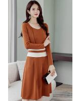 ST-615 Charming Dress Brown