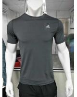 1015 Adidas Sport Wear T-Shirt Men Round Neck Style(GREY)