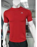 1015 Adidas Sport Wear T-Shirt Men Round Neck Style(RED)