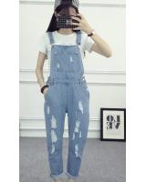 WP7668 Women's Casual Jumpsuit Light Blue