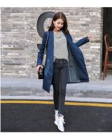 WJ7669 Trendy Denim Cardigan Blue