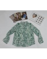 WT7680 Women's Printed Top Green