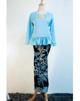 JW5051 Fashion Baju Kurung Blue