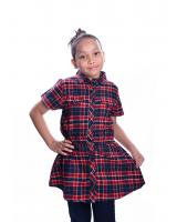 W711445MX PLAID GIRL BLOUSE