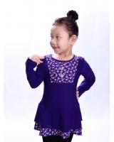W711047PU LOVELY BLOUSE PURPLE LONG SLEEVE
